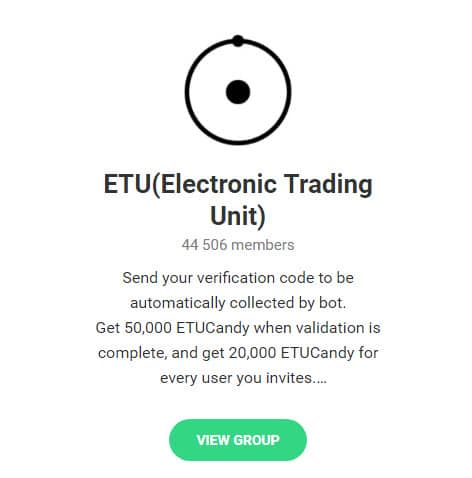 группа телеграм Electonic Trading Unit