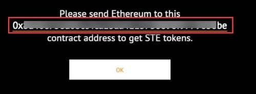 полученный адрес ETH