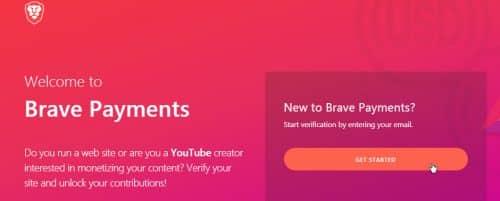 Партнёрский сайт Brave