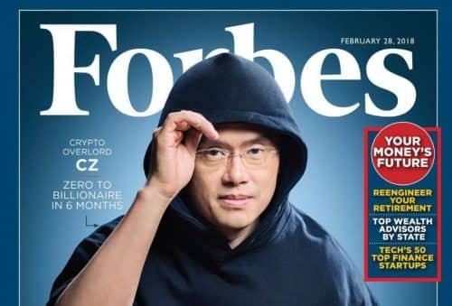 Чанпена Чжао на обложке Forbes