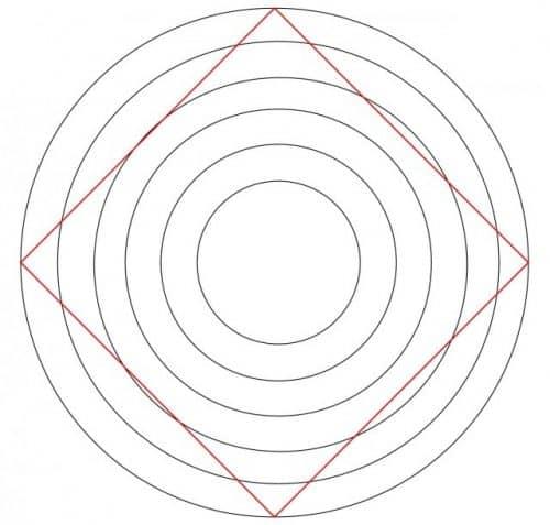 Квадрат среди окружностей