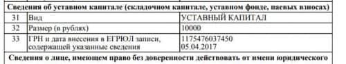 уставной капитал ООО «Импульс»